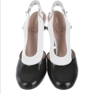 NIB Chloe Leather Round Toe Pumps